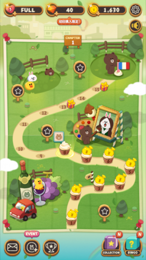 LINE POPショコラ マップ