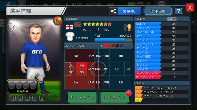 BFBチャンピオンズ2.0 ルーニー